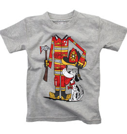 Wes And Willy Fire Fighter SS Tee Heather