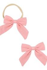 Mila & Rose Coral Hand Tied Bow Headband