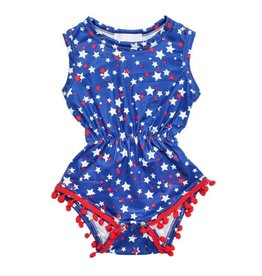 Mila & Rose Star Bright Pom Pom Romper