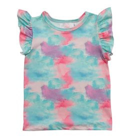 Mila & Rose Watercolor Wonder SS Ruffle Tee
