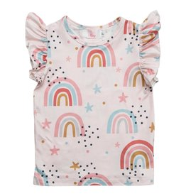 Mila & Rose Over The Rainbow SS Ruffle Tee