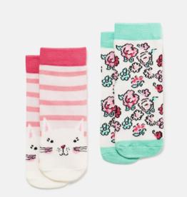 Joules Neat Feet Socks Floral & Cat