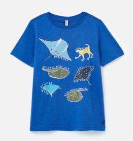 Joules Ray Shirt Blue Fish
