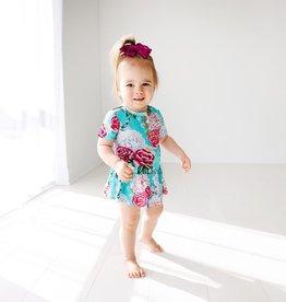 Posh Peanut Eloise SS Henley Twirl Skirt Bodysuit