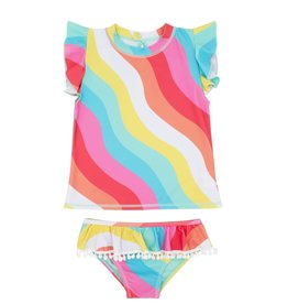 Feather 4 Arrow Tropical SS Seashell Ruffle Swim Set