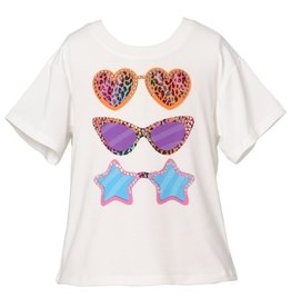 Hannah Banana/Baby Sara Fashion Sunglass Print SS T-Shirt White