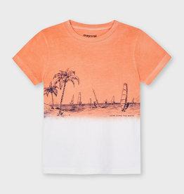 Mayoral SS Dip Dye T-Shirt Apricot
