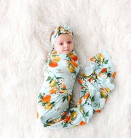 Posh Peanut Mirabella Infant Swaddle & Headwrap Set