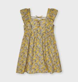 Mayoral Printed Dress Mustard