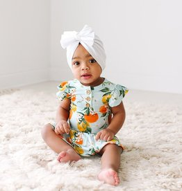 Posh Peanut Mirabella Ruffled Henley Twirl Skirt Bodysuit