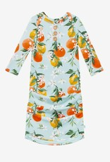 Posh Peanut Mirabella Wood Button Zippered Gown, 0/3M