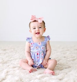 Posh Peanut Samantha Basic Ruffled Bubble Romper