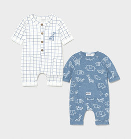 Mayoral Long Onesie Set Light Blue