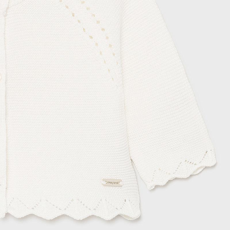 Mayoral Basic Knit Long Cardigan Natural