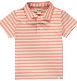 Me & Henry Flagstaff Polo Pink/Cream Stripe