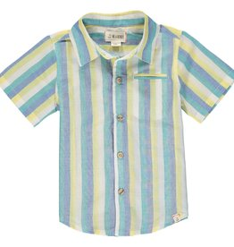 Me & Henry Pier SS Shirt Yellow/Blue/Green Stripe