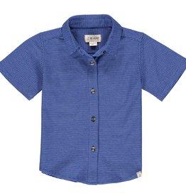 Me & Henry Tiller Jersey Shirt Royal/White Micro Stripe