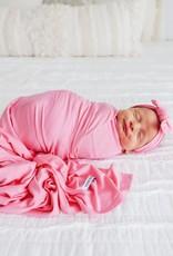 Posh Peanut Solid Pink Lemonade Infant Headwrap