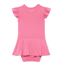 Posh Peanut Solid Pink Lemonade Basic Twirl Skirt Bodysuit