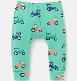 Joules Payton Cuffed Pant Green Tractor