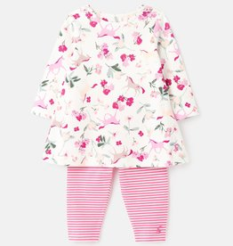 Joules Christina Dress & Legging Set Unicorn Floral