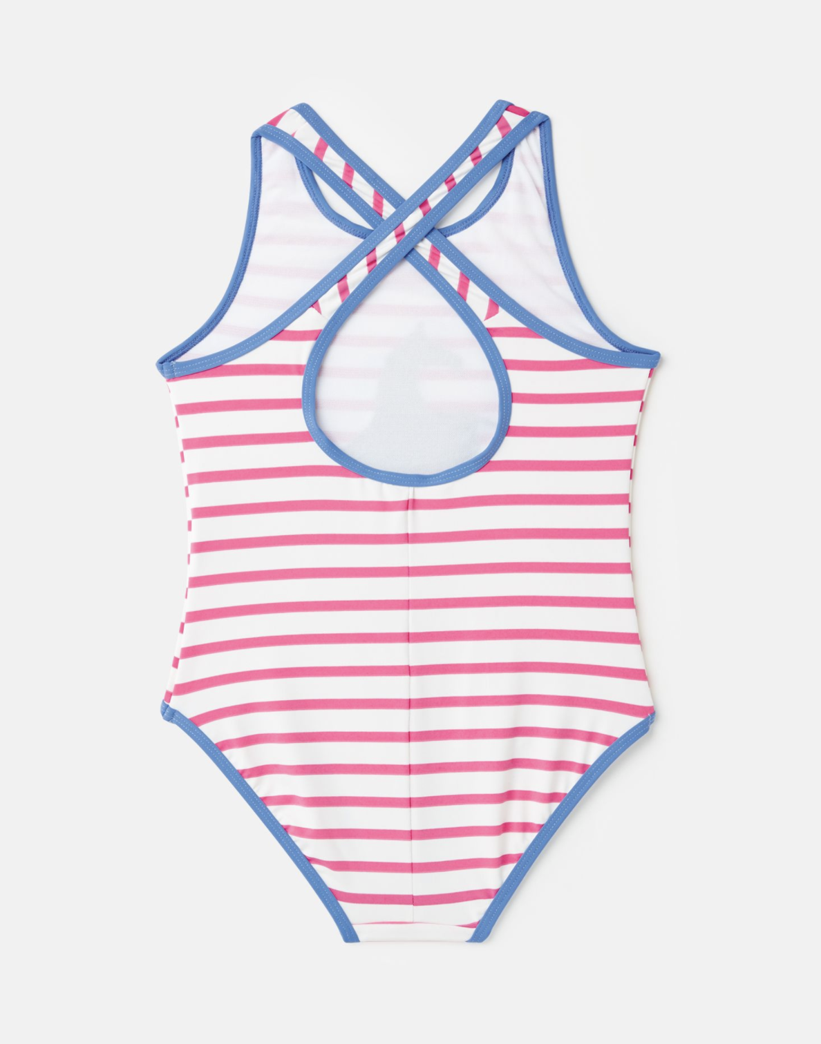 Joules Briony Luxe Swimsuit Pink Stripe Horse