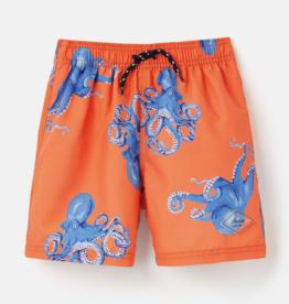 Joules Ocean Trunks Orange Octopus