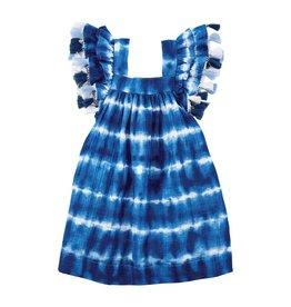 Mud Pie Blue Tie Dye Tassel Dress