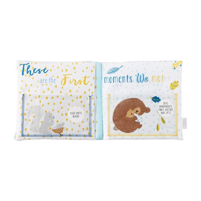 Mud Pie Hello Baby Boy Fabric Book