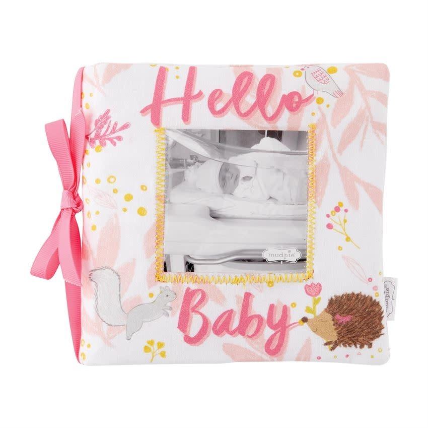 Mud Pie Hello Baby Girl Fabric Book
