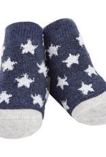 Mud Pie Navy Chenille Star Sock ONE SIZE (0-12M)