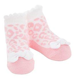 Mud Pie Pink Leopard Socks ONE SIZE (0-12M)