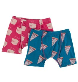 Kickee Pants Boxer Briefs Set (Seaport Pizza/Cherry Takeout)