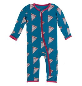 Kickee Pants Coverall Zipper Seaport Pizza Slices