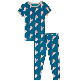 Kickee Pants SS PJ Set Seaport Pizza Slices