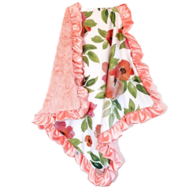 Rockin Royalty Tropical Coral Blanket (Full Size)