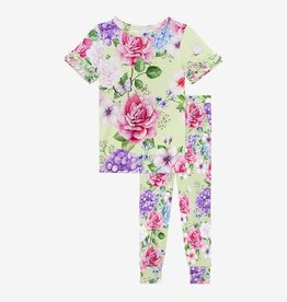 Posh Peanut Georgina Ruffled Short Sleeve Pajama Set