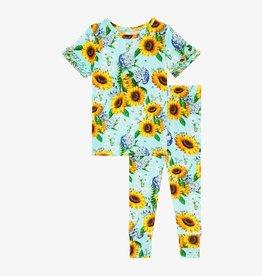 Posh Peanut Sunny Ruffled Short Sleeve Pajama Set