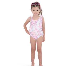 Andy & Evan Tie Dye Ruffle Swimsuit