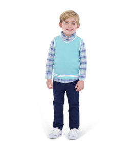 Andy & Evan Mint 4 Piece Sweater Vest Set
