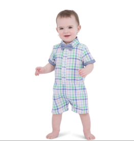 Andy & Evan Pastel Gingham Shirtall Romper