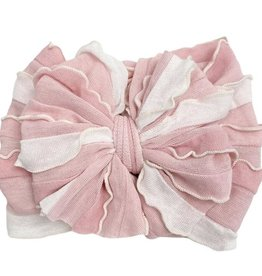 In Awe Couture Ruffle Headband Tickled Pink Stripe