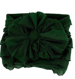 In Awe Couture Ruffle Headband Cedar Green
