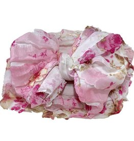 In Awe Couture Ruffle Headband Pink Blossom