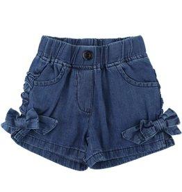 Ruffle Butts/Rugged Butts Denim Bow Shorts