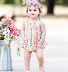 Ruffle Butts/Rugged Butts Rainbow Hearts Knit Ruffle Swing Top