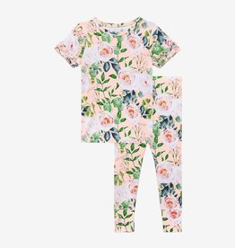 Posh Peanut Harper Basic Ruffled Short Sleeve Pajama Set