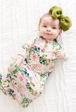 Posh Peanut Harper Wood Button Zippered Gown 0/3M
