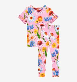 Posh Peanut Kaileigh Ruffled Short Sleeve Pajama Set