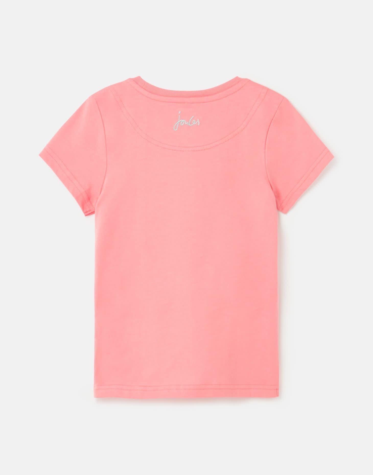 Joules Astra Shirt Pink Unicorn